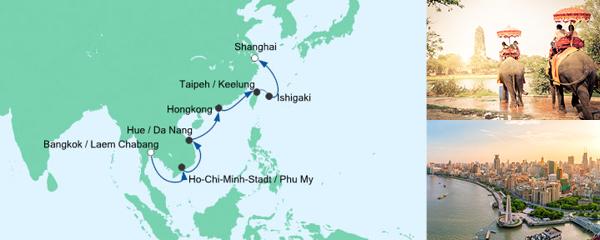 AIDA Seetours Angebot Von Bangkok nach Shanghai