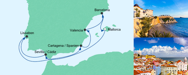 AIDA Pauschal Angebot Spanien & Portugal 3