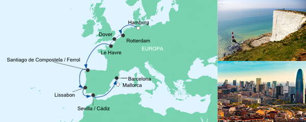 AIDA Seetours Angebot Von Hamburg nach Mallorca 3