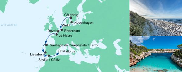 AIDA Seetours Angebot Von Kiel nach Mallorca