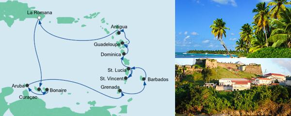 Routenverlauf Karibische Inseln 1 am 12.12.2019