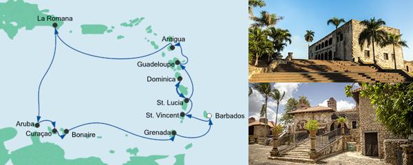 Routenverlauf Karibische Inseln 2 am 07.11.2019