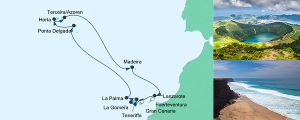AIDA Verlockung der Woche Angebot Feiertagsreise Azoren & Kanaren 2