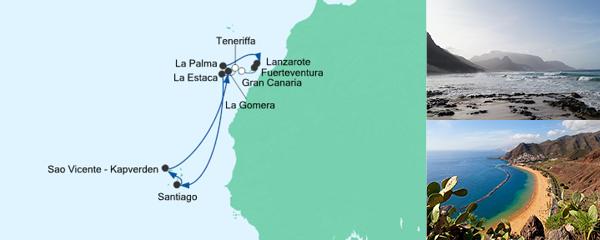 AIDA Angebot Silvesterreise Kapverden & Kanaren