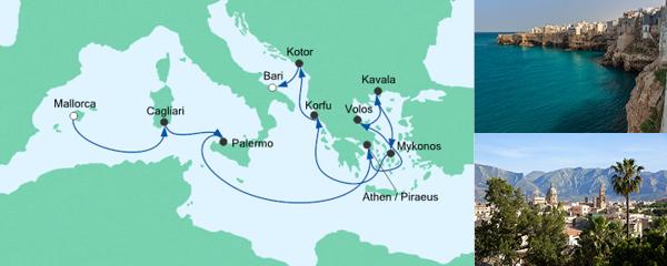 AIDA Seetours Angebot Von Mallorca nach Bari