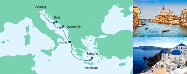 AIDA Spezialangebot Von Venedig nach Kreta