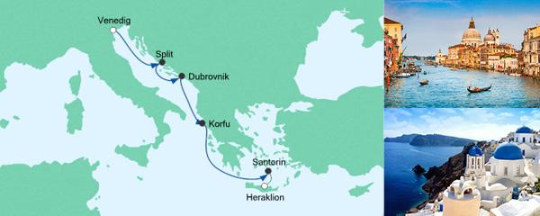AIDA Seetours Angebot Von Venedig nach Kreta