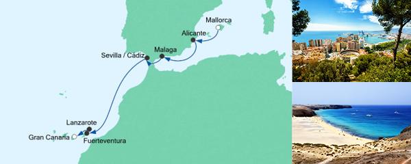 AIDA Spezialangebot Von Mallorca nach Gran Canaria 2