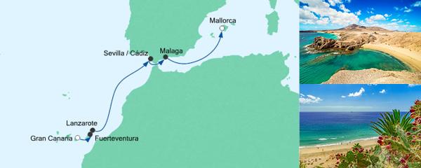 AIDA Seetours Angebot Von Gran Canaria nach Mallorca 2
