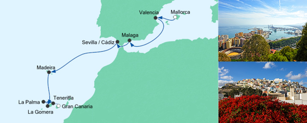 AIDA Seetours Angebot Von Mallorca nach Gran Canaria 1