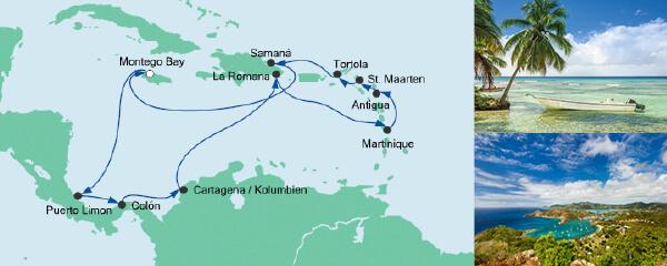 AIDA Seetours Angebot Karibik & Mittelamerika 2