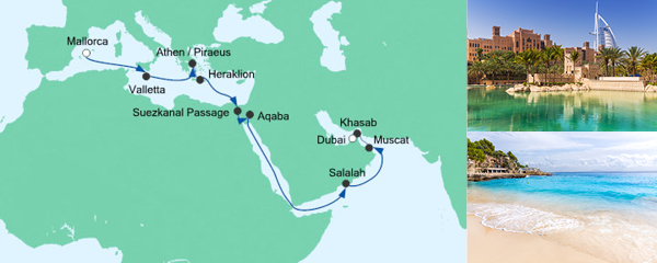 AIDA Seetours Angebot Von Mallorca nach Dubai 4