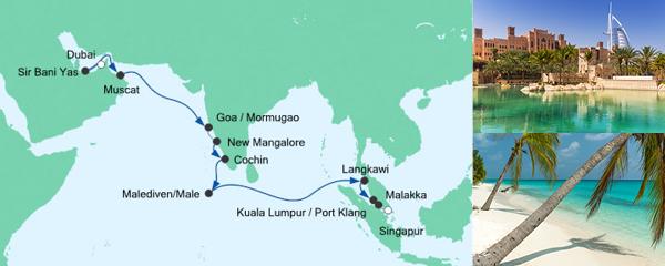 AIDA Seetours Angebot Von Dubai nach Singapur
