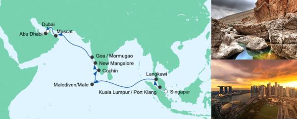 AIDA Angebot Von Singapur nach Dubai 2