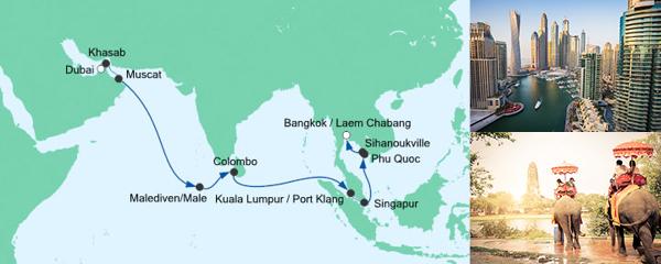 AIDA Verlockung der Woche Angebot Von Dubai nach Bangkok 2