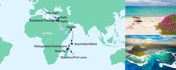 Mein Schiff Special EURESAreisen Von Kreta nach Mauritius 2