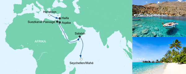 AIDA Seetours Angebot Von Kreta auf die Seychellen