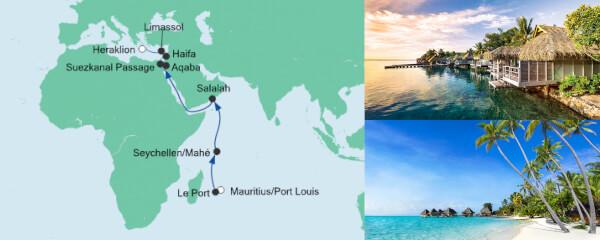 AIDA Pauschal Angebot Von Mauritius nach Kreta