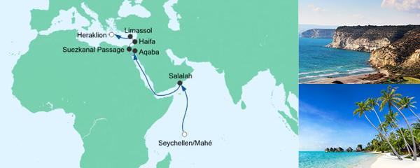 AIDA Spezialangebot Von den Seychellen nach Kreta
