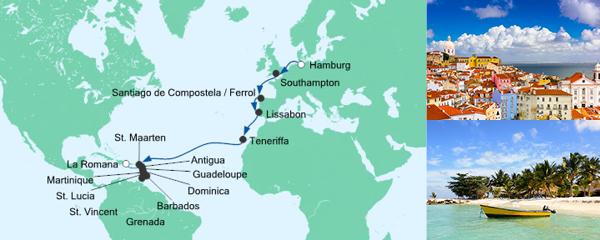AIDA Seetours Angebot Von Hamburg in die Dominikanische Republik