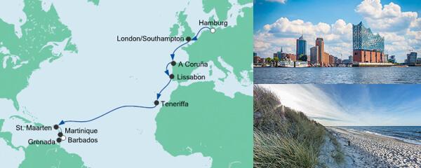 AIDA Pauschal Angebot Von Hamburg nach Barbados