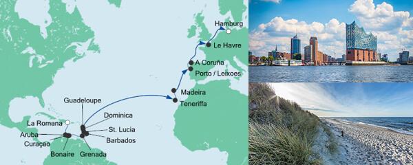 AIDA Seetours Angebot Von der Dominikanischen Republik nach Hamburg
