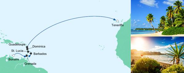 AIDA VARIO Kurzfristverkauf Von der Dominikanischen Republik nach Teneriffa