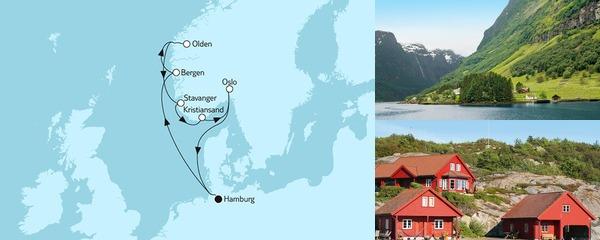 Routenverlauf Norwegen mit Bergen I am 20.05.2019