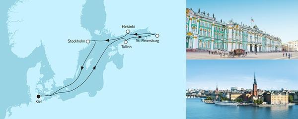 8 Tage Ostsee mit St. Petersburg I mit der Mein Schiff 1