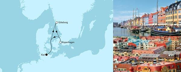 Routenverlauf Kurzreise mit Göteborg & Kopenhagen am 20.05.2019