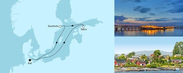 Routenverlauf Kurzreise mit Tallinn & Stockholm am 23.05.2019