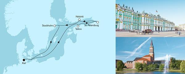 Routenverlauf Ostsee mit St. Petersburg IV am 31.07.2019
