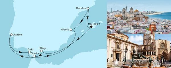 Mein Schiff Special EURESAreisen Mittelmeer mit Lssabon