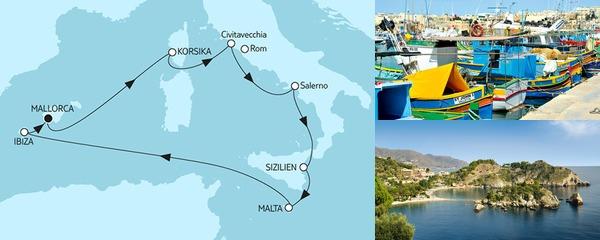 9 Tage Mittelmeer mit Salerno