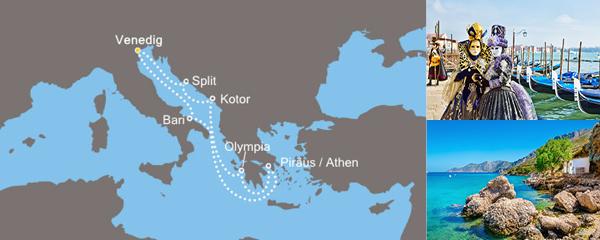 Routenverlauf Kulturelles Mittelmeer am 08.12.2018
