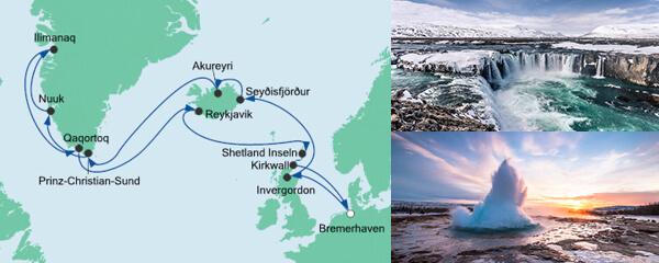 AIDA Spezialangebot Island & Grönland 2