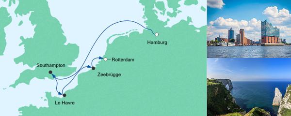 Routenverlauf Kurzreise von Hamburg nach Rotterdam am 29.02.2020