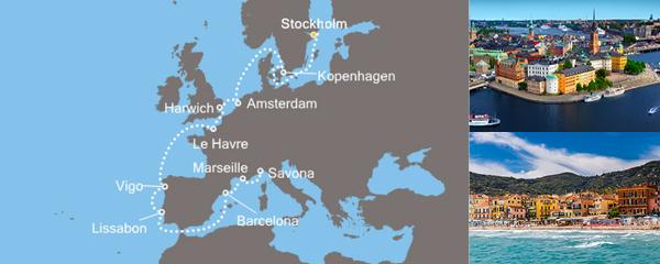 Routenverlauf Von der Ostsee zum Mittelmeer am 31.08.2019