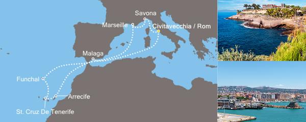 11 Tage Inseln der Sonne mit der Costa Pacifica