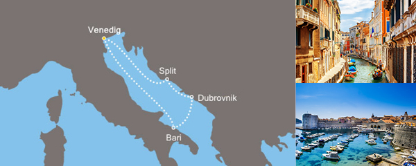 Routenverlauf Kurs gen Osten am 19.04.2019