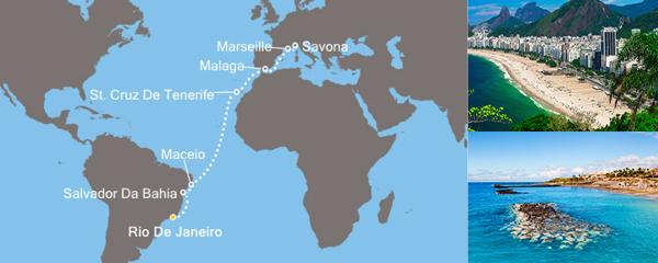 Routenverlauf Sonniges Rio am 16.03.2019