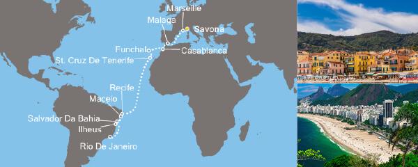 Routenverlauf Sonniges Rio am 21.11.2018