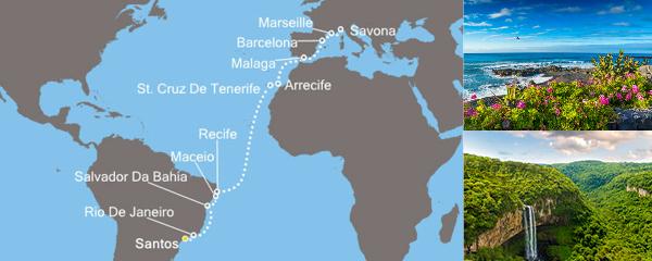 Routenverlauf Sonniges Rio am 27.03.2019