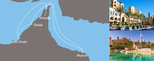 Routenverlauf Costa Tausendundeine Nacht