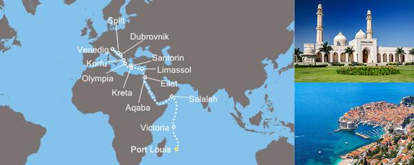 Routenverlauf Vom indischen Ozean zum Mittelmeer der Antike am 16.03.2019