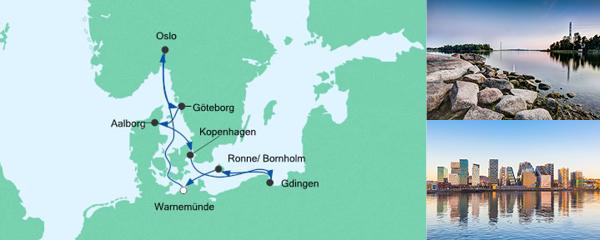 AIDA Wochenendeinkauf Angebot Südskandinavien & Danzig