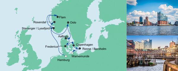 AIDA Wochenendeinkauf Angebot Norwegen & Dänemark 2