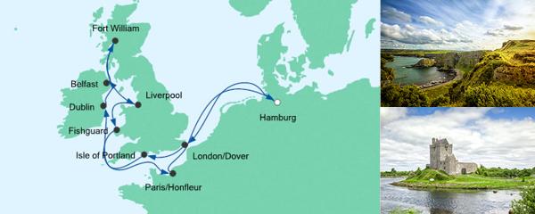 AIDA Wochenendeinkauf Angebot Großbritannien & Irland 3