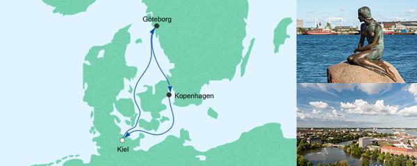 Routenverlauf Kurzreise ab Kiel 1 am 12.09.2019