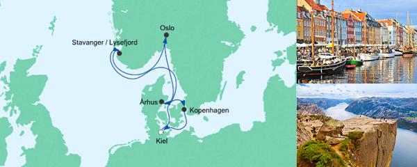 AIDA Verlockung der Woche Angebot Skandinavische Städte ab Kiel mit Aarhus